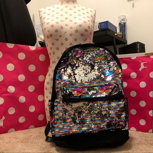 NWT Victoria Secret PINK sequins backpack